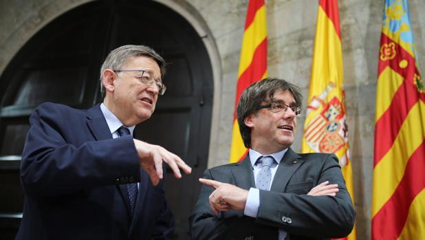 Puig y Puigdemont, este lunes en el Palau de la Generalitat