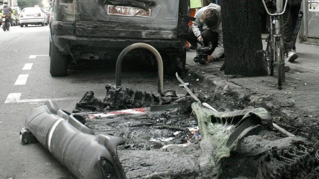 Decenas de contenedores de basuras son incendiados en Zaragoza cada año