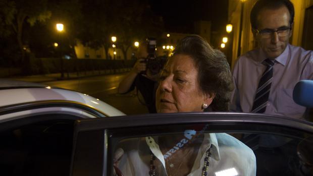La exalcaldesa y Senadora por Valencia, Rita Barberá