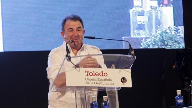 Martín Berasategui se emocionó este lunes en Toledo al recordar a su padre