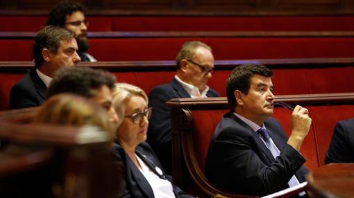 El portavoz de Ciudadanos, Fernando Giner, durante el debate