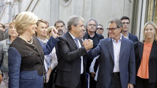 Francesc Homs acudió al Tribunal Supremo acompañado de Artur Mas, entre otros