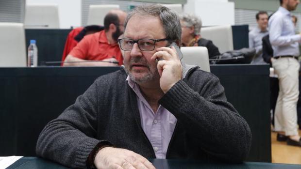 El delegado del área de Seguridad, Javier Barbero, en un pleno en Cibeles