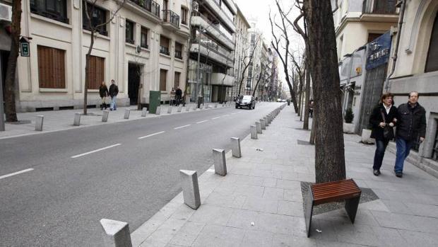 Foto de archivo de la calle Jorge Juan