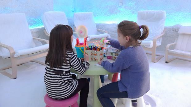 Niños en las instalaciones de Saltium en Toledo