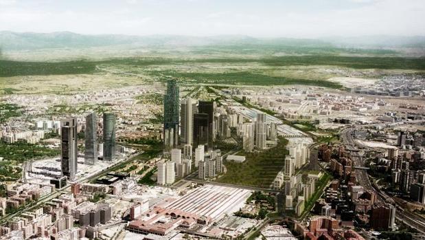 Simulación del futuro proyecto Distrito Castellana Norte