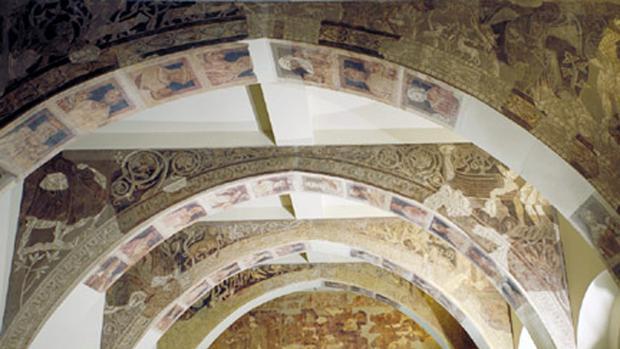 Los frescos de Sijena se encuentran depositados en el Museo Nacional de Arte de Cataluña