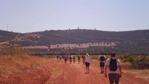 Un grupo de peregrinos de camino a Urda