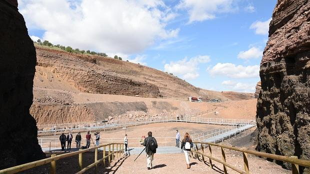 Panorámica del volcán Cerro Gordo, en el Campo de Calatrava
