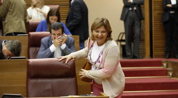 Imagen de Isabel Bonig tomada este miércoles en las Cortes Valencianas