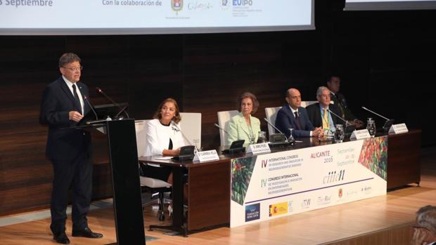 Imagen de la inauguración del congreso presidida por Doña Sofía en Alicante