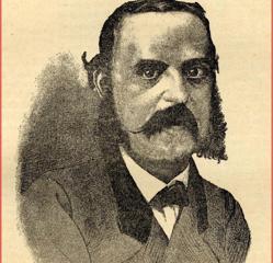 Martín Gamero dibujado por Federico Latorre en la revista Toledo (1889)