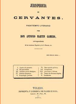 Portada de la obra Jurispericia de Cervantes