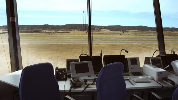 Interior de la torre de control del Aeropuerto de Ciudad Real