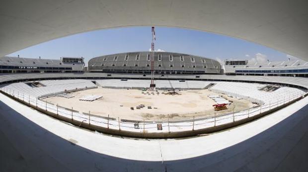 El estadio de La Peineta, el que será el nuevo hogar del Atlético de Madrid, en San Blas