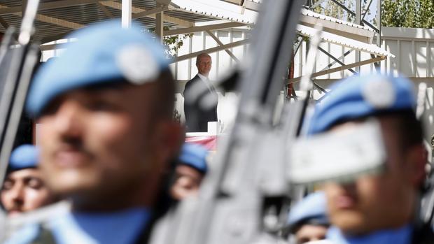 Morenés visita a las tropas desplegadas en Líbano
