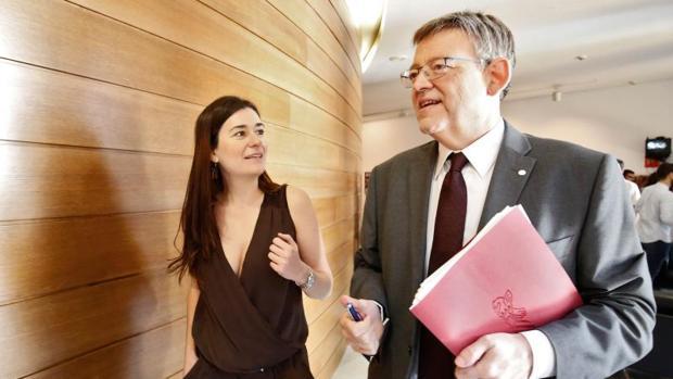 Puig con la consellera Carmen Montón