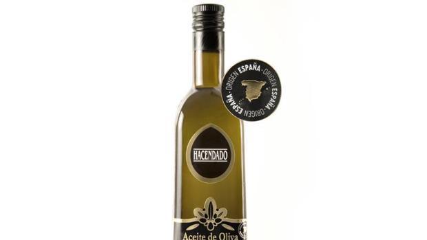 Imagen de una botella de aceite de oliva de Hacendado
