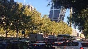 Tráfico denso y más atascos en el «Día sin Coches» de Madrid