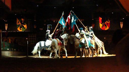 Espectáculo de caballos en la sala de Alfaz del Pi