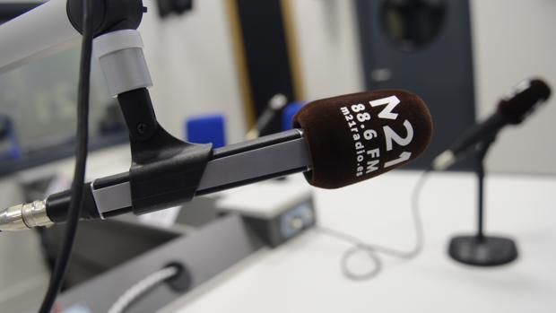 Micrófono de uno de los estudios de Emisora Escuela M21