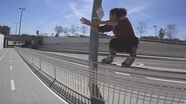 Una imagen de Michel Prado, el patinador agredido