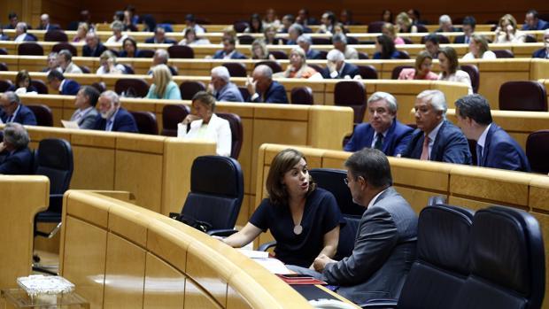 Pleno del Senado, durante la X Legislatura