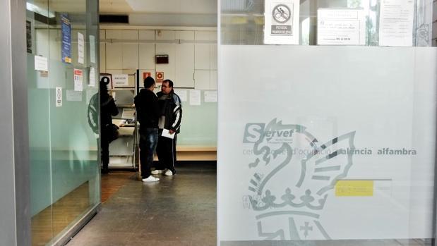 Imagen de archivo de una oficina del Servef en Valencia