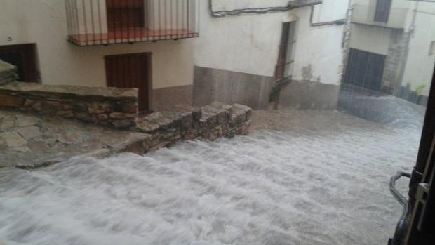 Imagen de la granizada en Morella