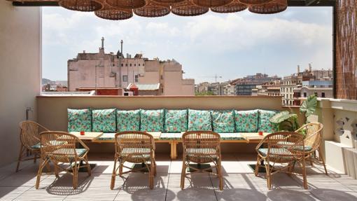 Una terraza única en Barcelona