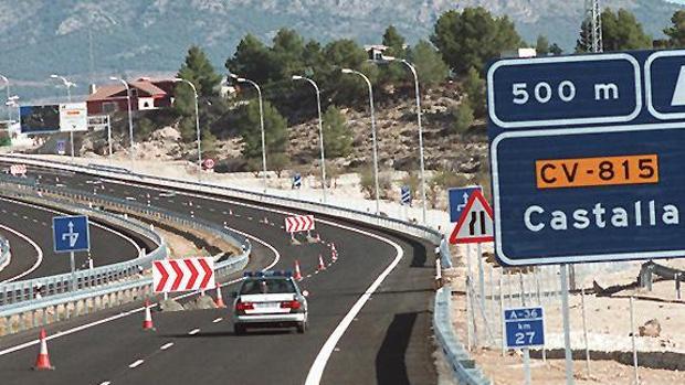 Autovía central entre Alicante y Valencia