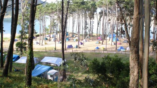 Zona de acampada en la Isla do Faro