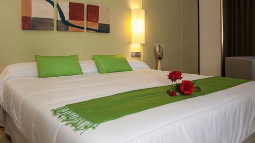 Una de las habitaciones del hotel Emperatriz