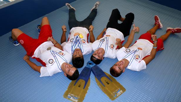 Daniel Sánchez, Álvaro Collado, Ignacio Calleja y Gonzalo Valero