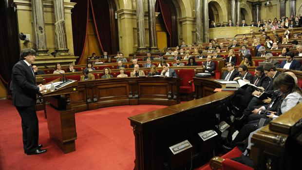 El Parlamento catalán, en uno de los plenos