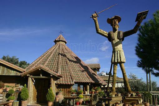 El Quijote más alto del mundo en talla de madera