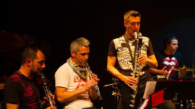 Imagen de la banda en un concierto en Madrid en 2013