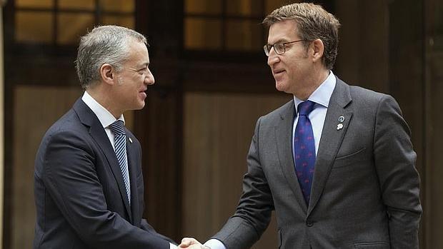 Íñigo Urkullu y Alberto Núñez Feijóo