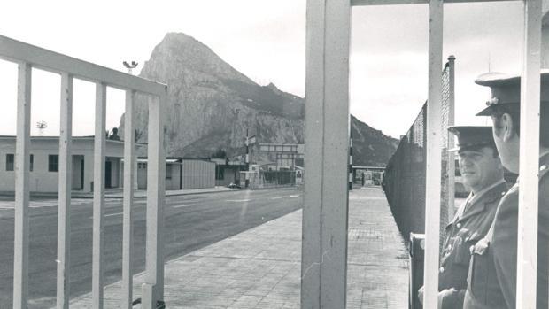 Imagen de 1982 de la frontera de Gibraltar
