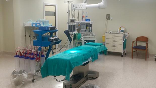Uno de los quirófanos del hospital Santa Bárbara de Puertollano que han sido reformados