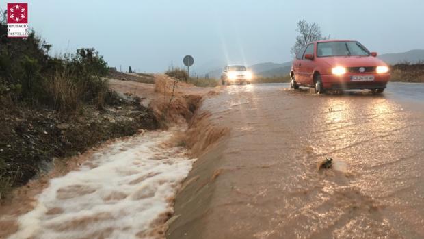 Imagen difundida en Twitter por Emergencias de la Generalitat de la lluvia en la provincia de Castellón