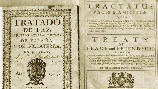Portada del Tratado de Utrecht