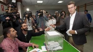 La participación en Galicia a las 17.00 se estanca y obtiene un dato casi idéntico (42,45%) al de 2012