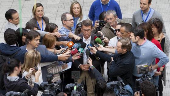 El candidato del PP a presidir la Xunta de Galicia, Alberto Núñez Feijóo