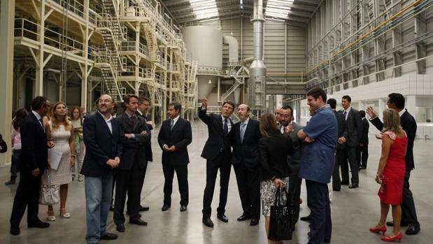 Visita institucional a una empresa azulejera en Villarreal (Castellón)