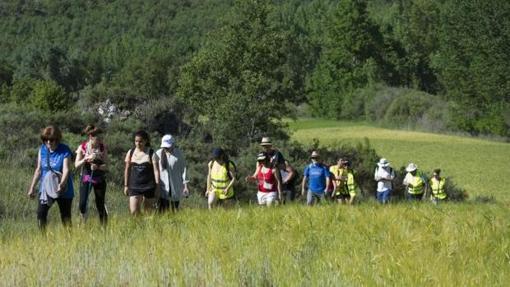 Grupo de viajeros por la Alcarria