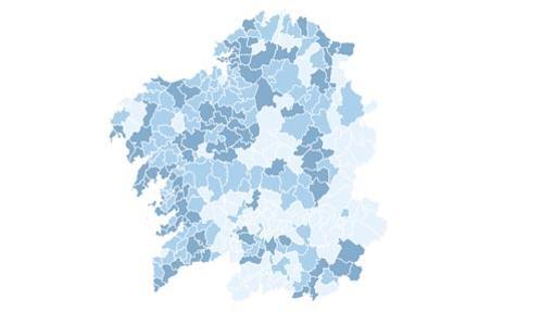 11 mapas que resumen los resultados en Galicia y País Vasco