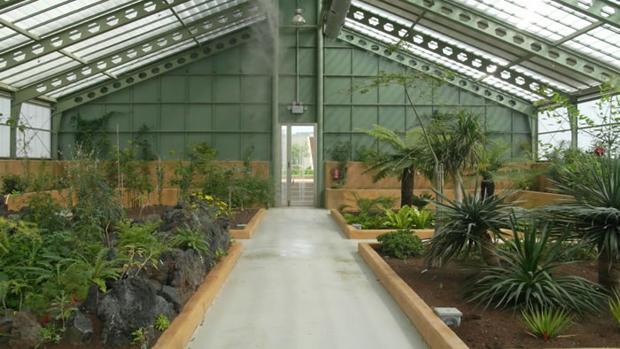 Invernadero del jardín botánico de Albacete