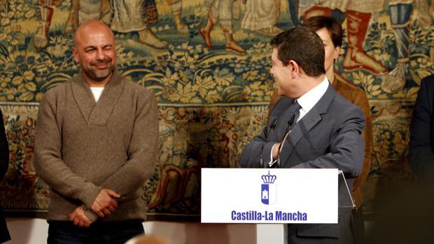 Emiliano García-Page y José García Molina, el pasado febrero