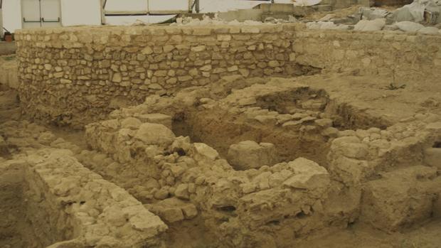 Restos encontrados en la villa romana de Noheda